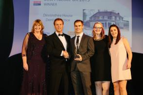 Receiving Best Practice UK at The Dentistry Awards
