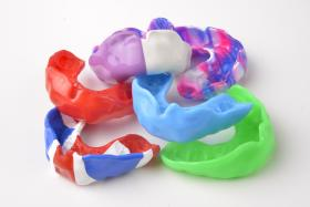 Multi-coloured Sports Mouthguards